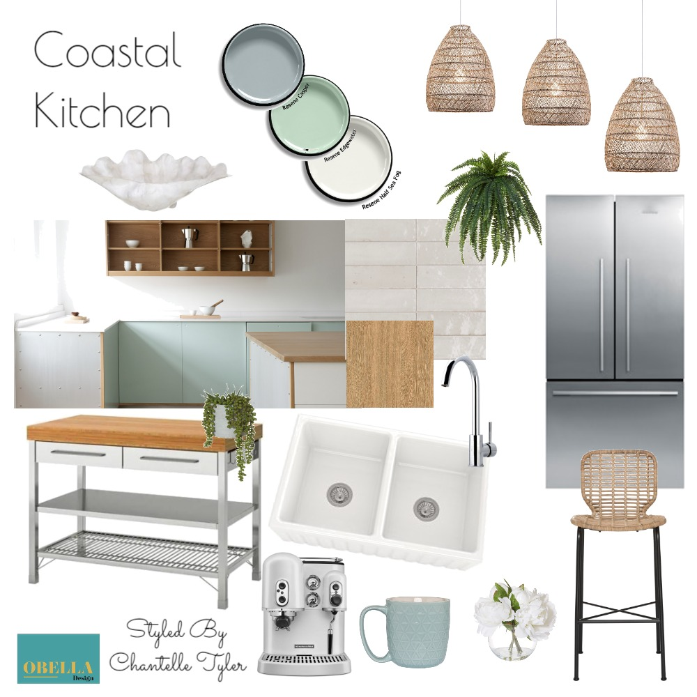 Coastal Kitchen Interior Design Mood Board by obelladesign on Style Sourcebook
