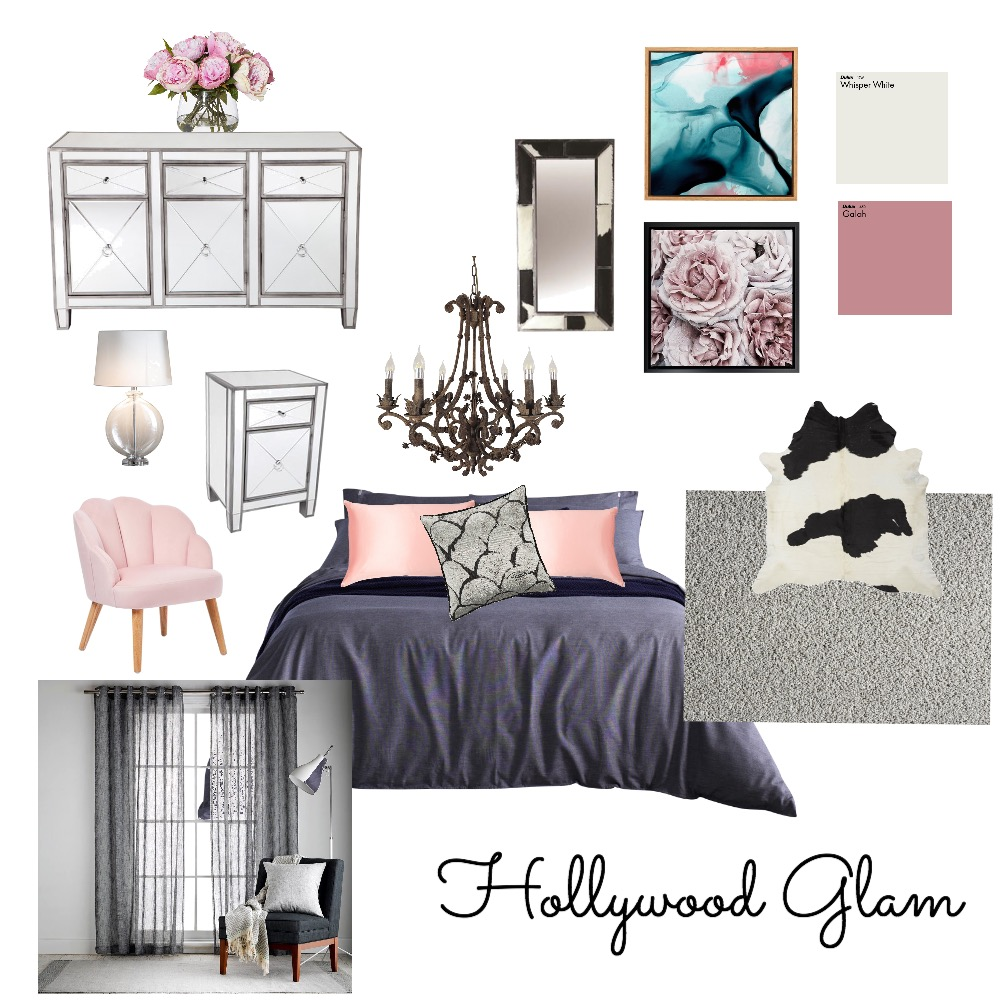 HOLLYWOOD GLAM Interior Design Mood Board by Zaileen on Style Sourcebook