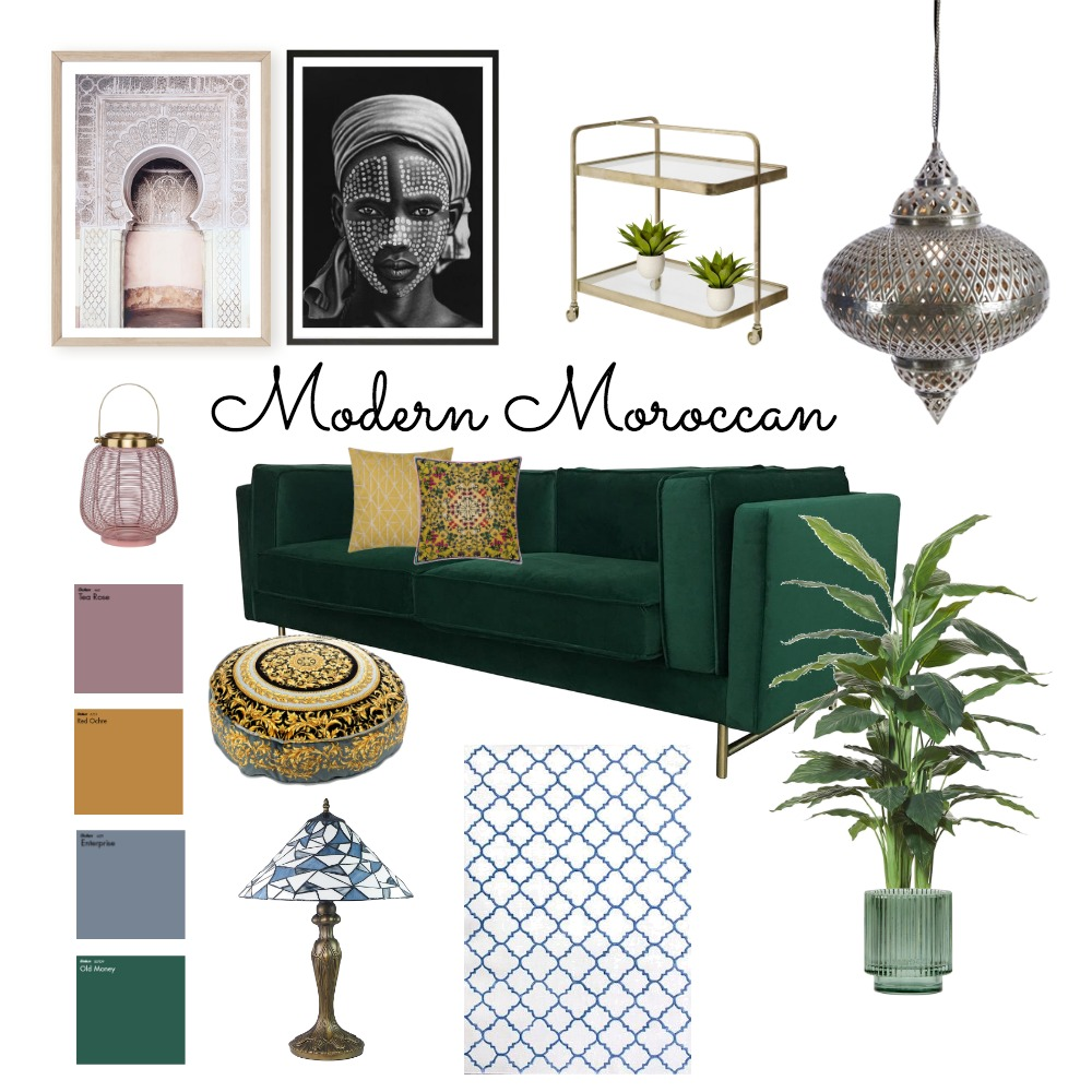 Moroccan Interior Design Mood Board by Magpi on Style Sourcebook
