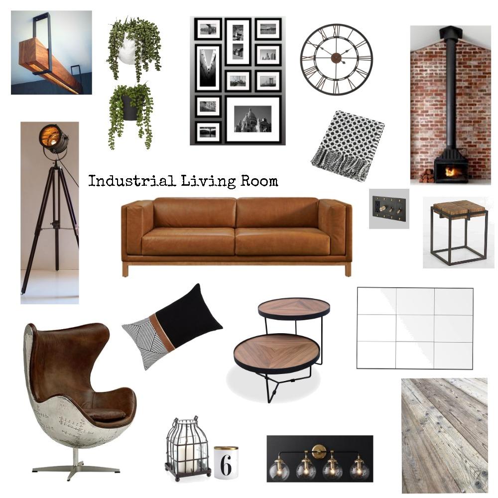 Modern Industrial Living Room Interior Design Mood Board by JanLewis83 on Style Sourcebook