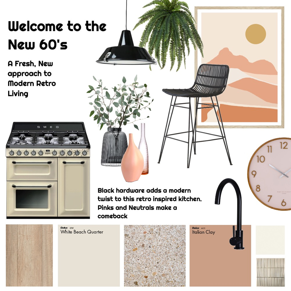 retro kitchen Interior Design Mood Board by Flawless Interiors Melbourne on Style Sourcebook