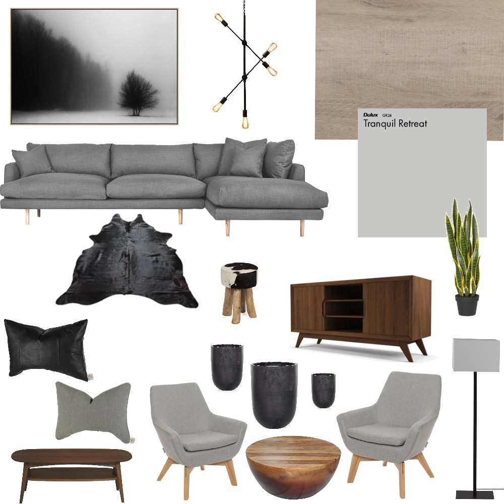 Moody Gray Interior Design Mood Board by AnnaK on Style Sourcebook