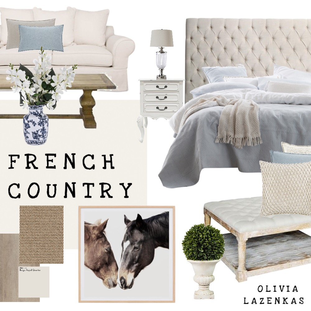 Gorgeous French Country Inspiration Interior Design Mood Board by Flawless Interiors Melbourne on Style Sourcebook