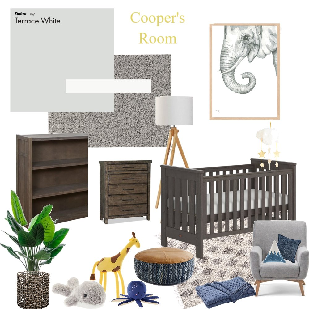 Cooper's Room Interior Design Mood Board by EzzyH on Style Sourcebook