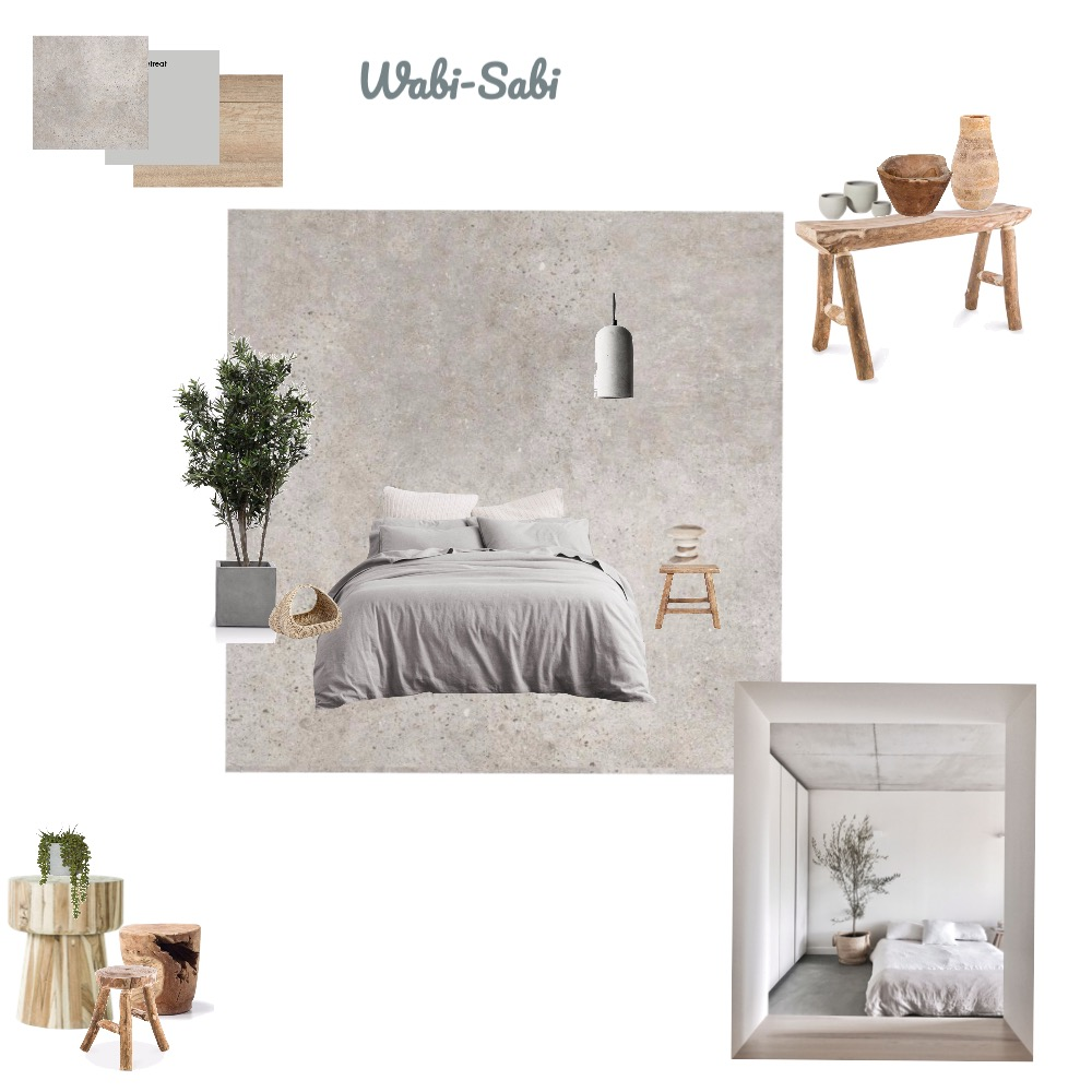 Wabi Sabi - Bedroom Interior Design Mood Board by biancaseller on Style Sourcebook