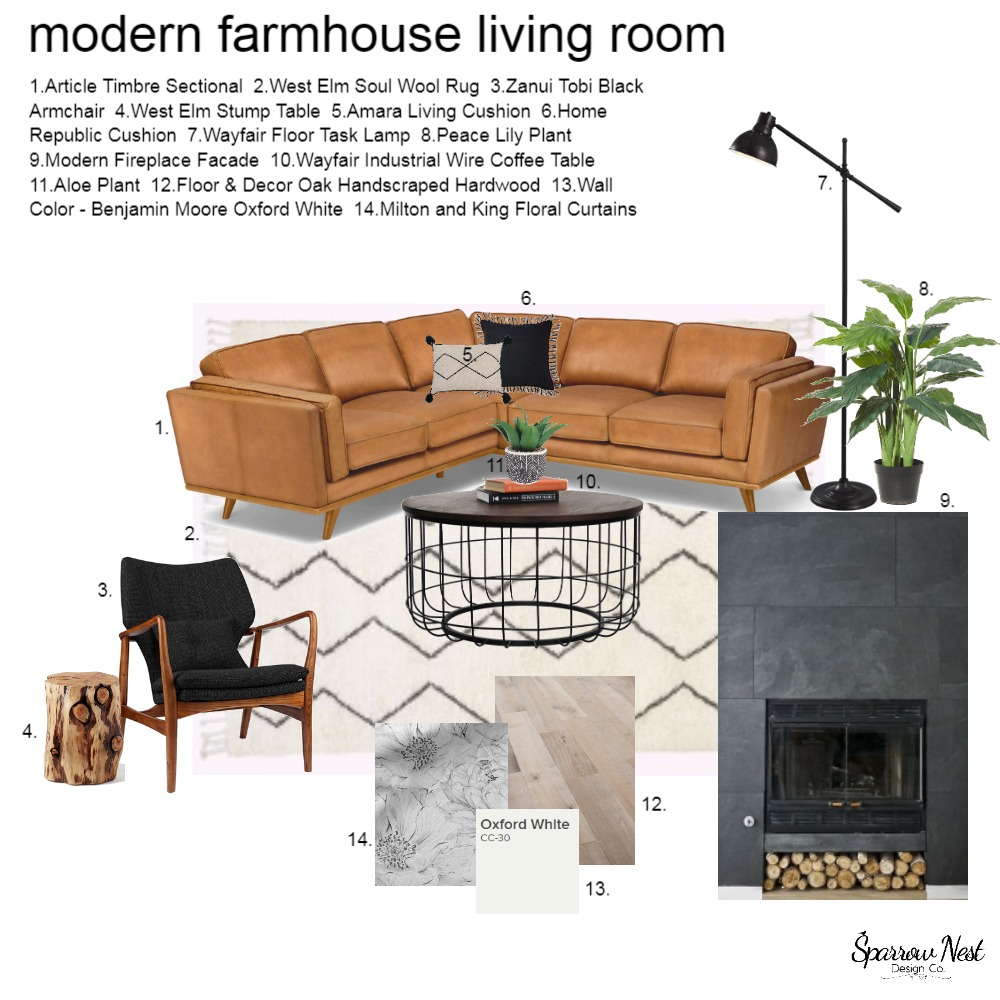 IDI Module 9 Living Room Interior Design Mood Board by Nbyrtus on Style Sourcebook