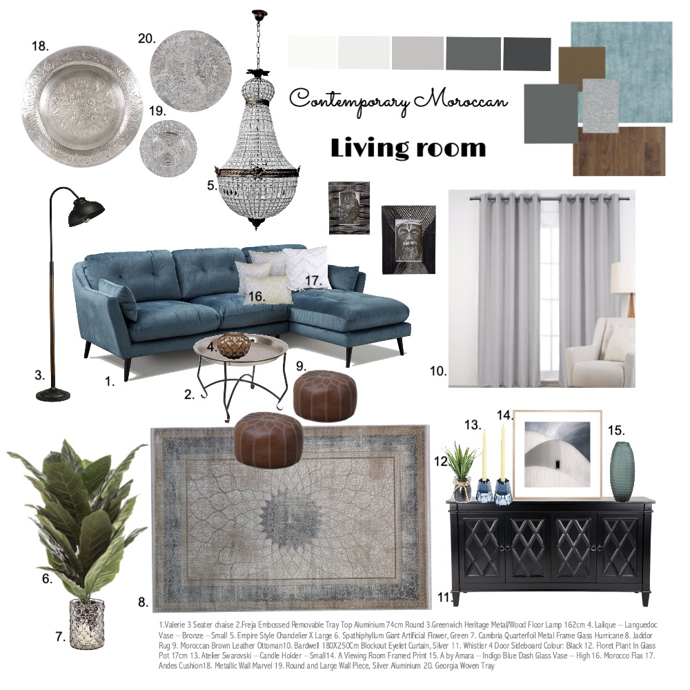 Living room Interior Design Mood Board by AlyaSiDesign on Style Sourcebook