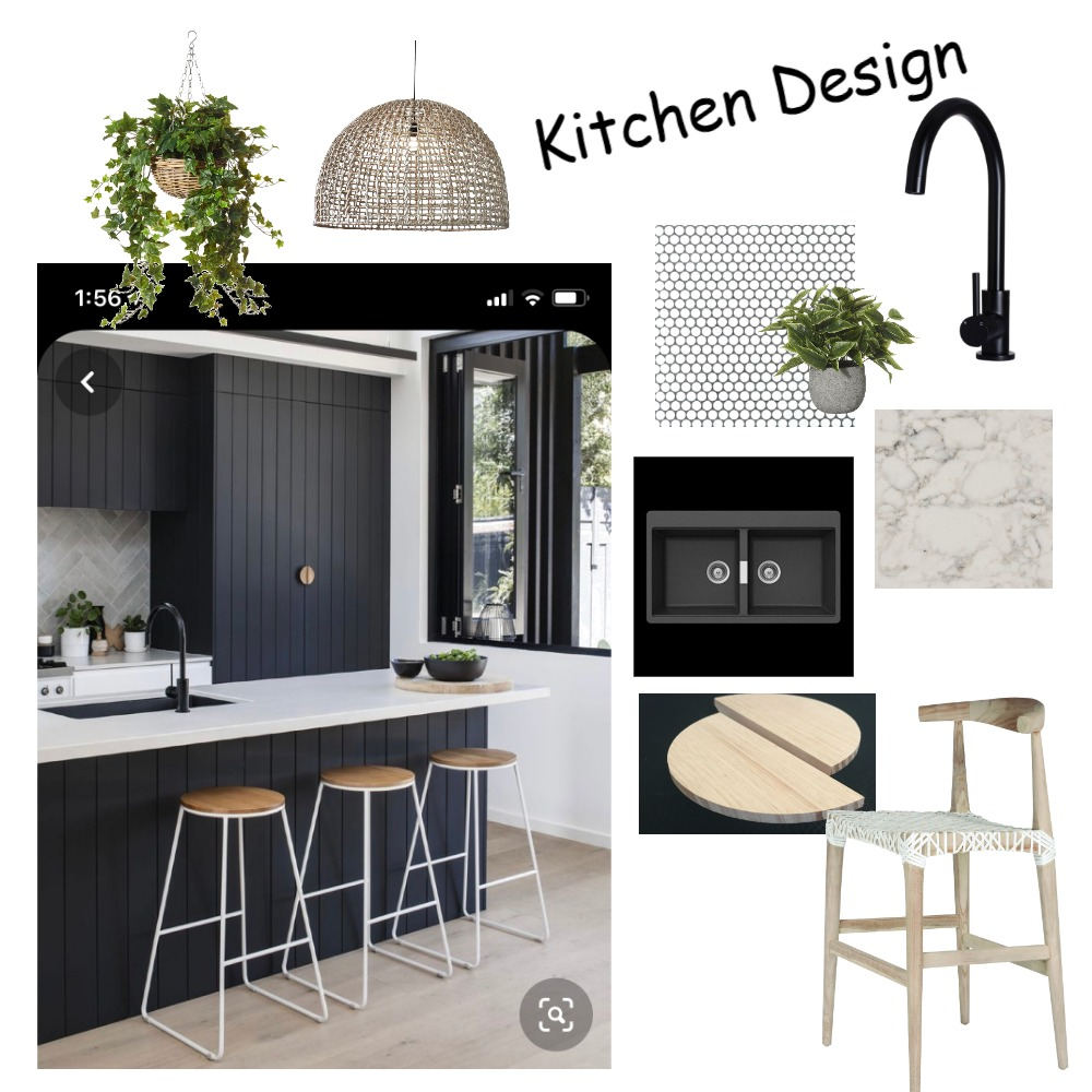 Black Vgroove Kitchen Interior Design Mood Board by Luxe Style Co. on Style Sourcebook