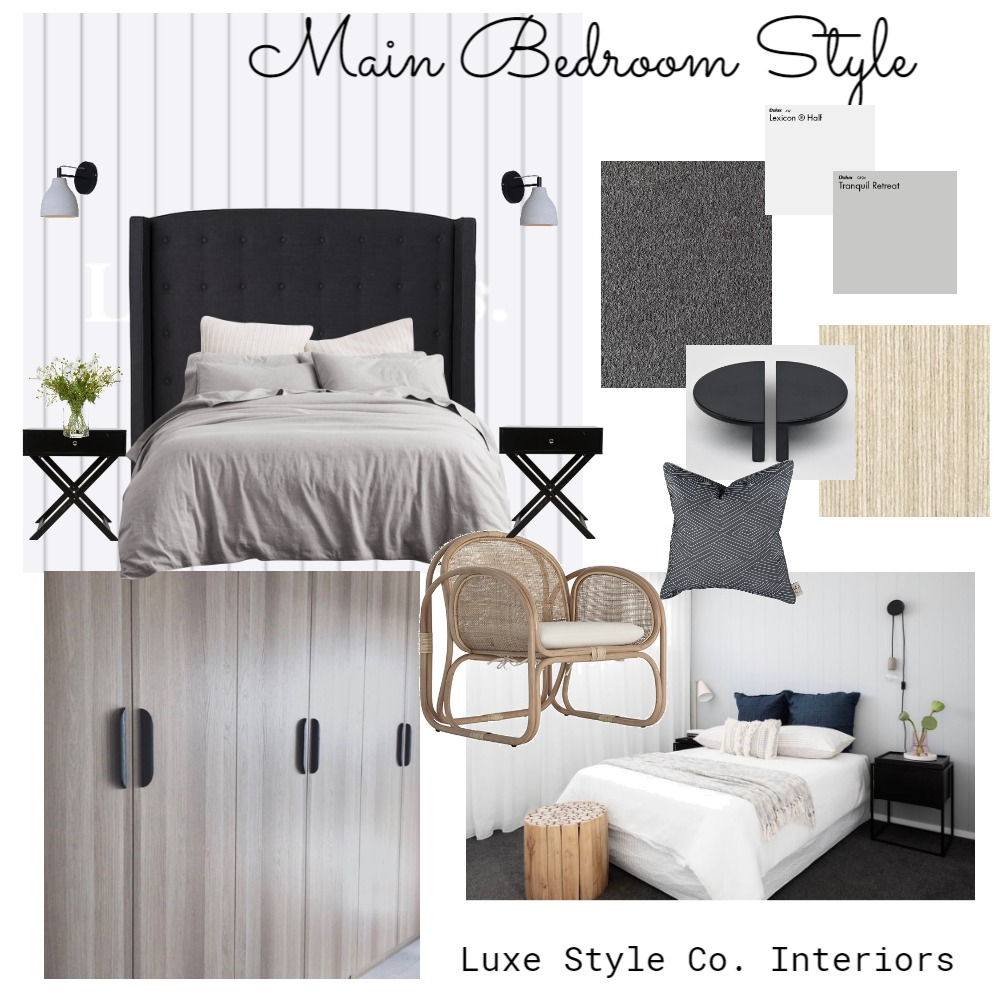 Coastal Contemporary Main Bedroom Interior Design Mood Board by Luxe Style Co. on Style Sourcebook