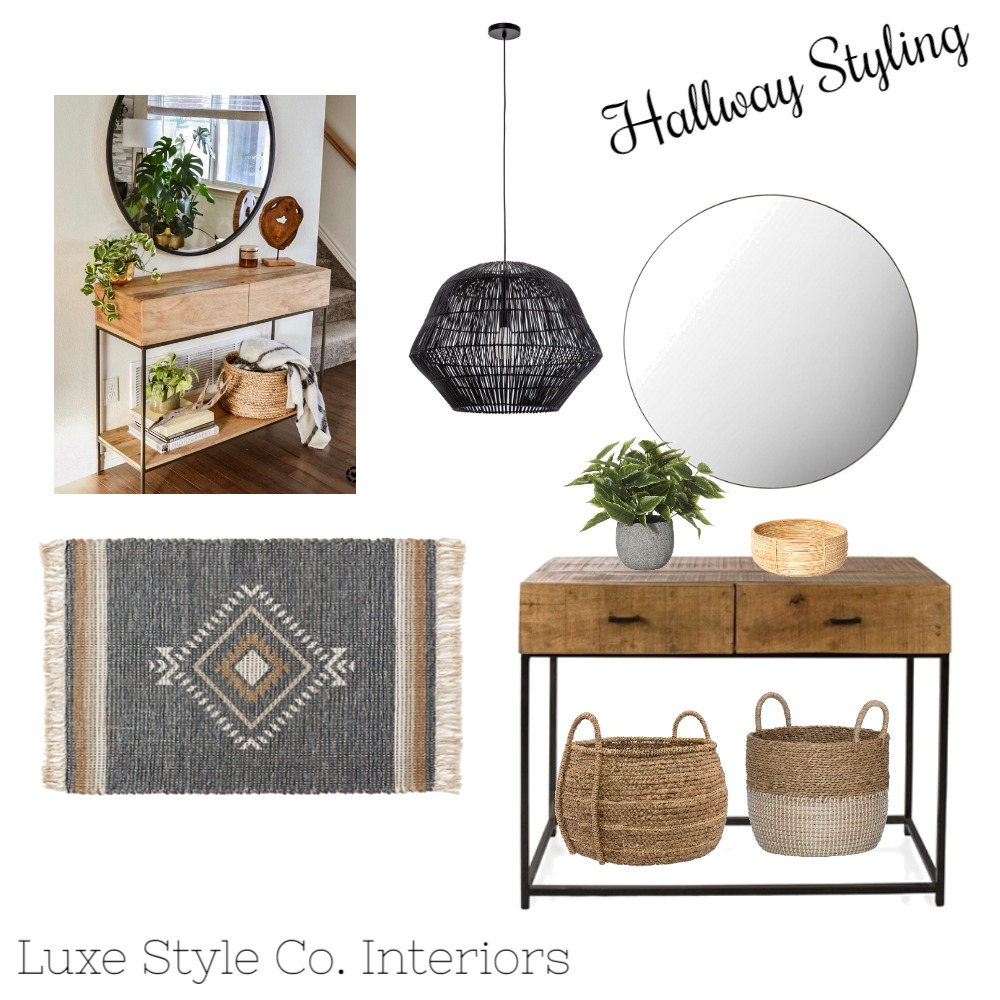 Hallyway Styling Interior Design Mood Board by Luxe Style Co. on Style Sourcebook