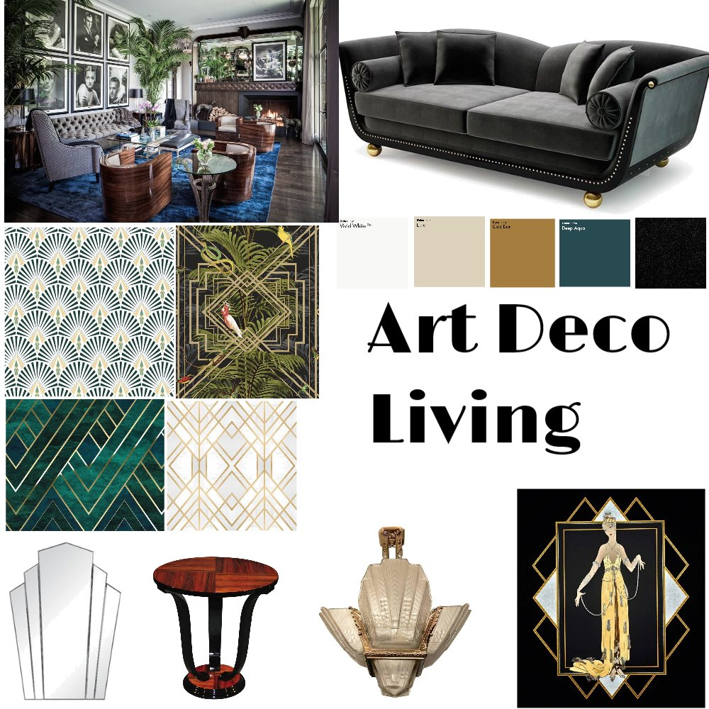 Art deco Interior Design Mood Board by MWard on Style Sourcebook