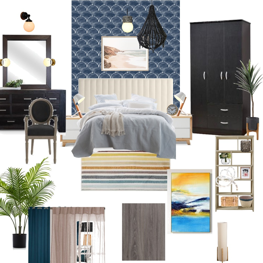 dream flt big bedroom Interior Design Mood Board by payel on Style Sourcebook