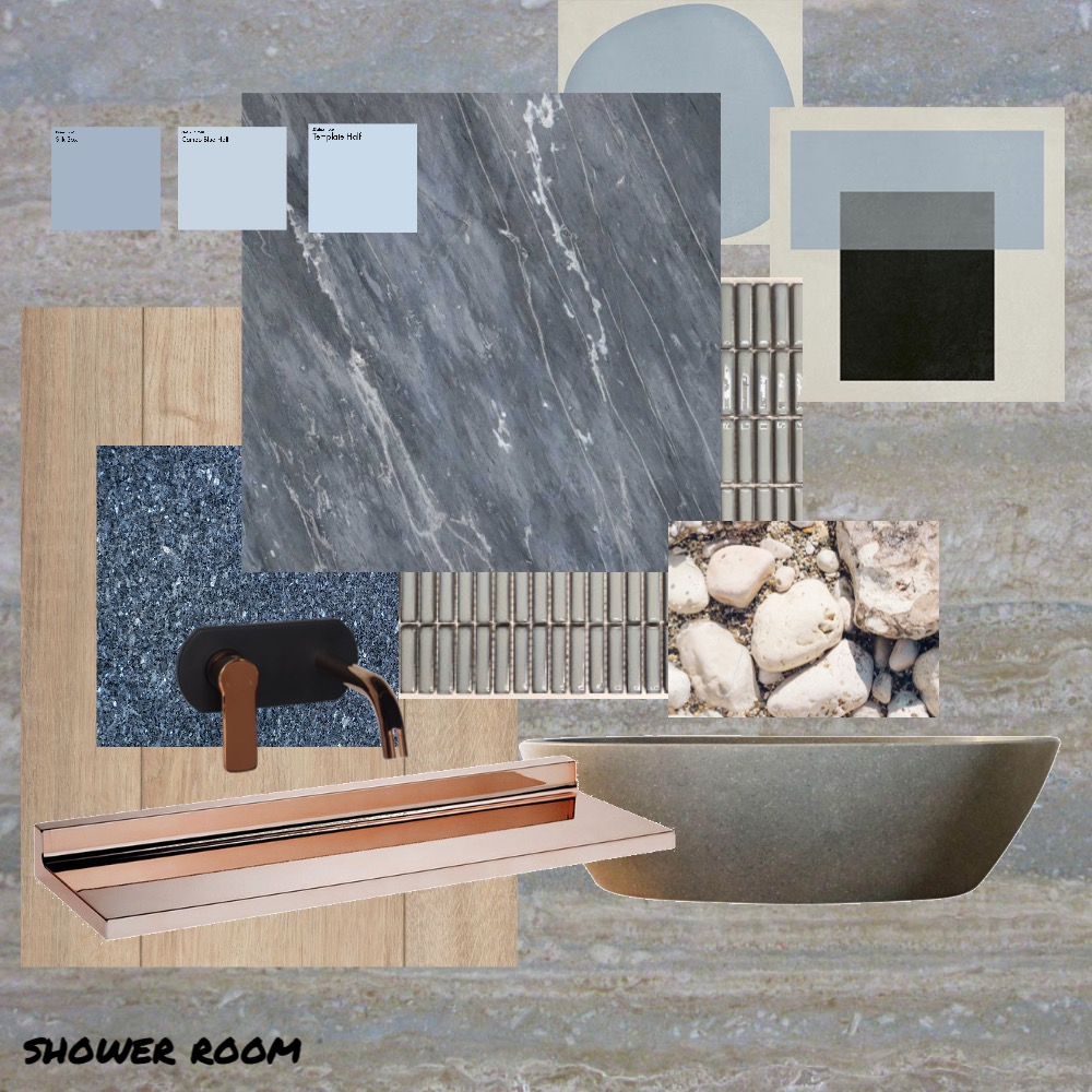 SING THE BLUES SHOWER Interior Design Mood Board by AinaCurated on Style Sourcebook