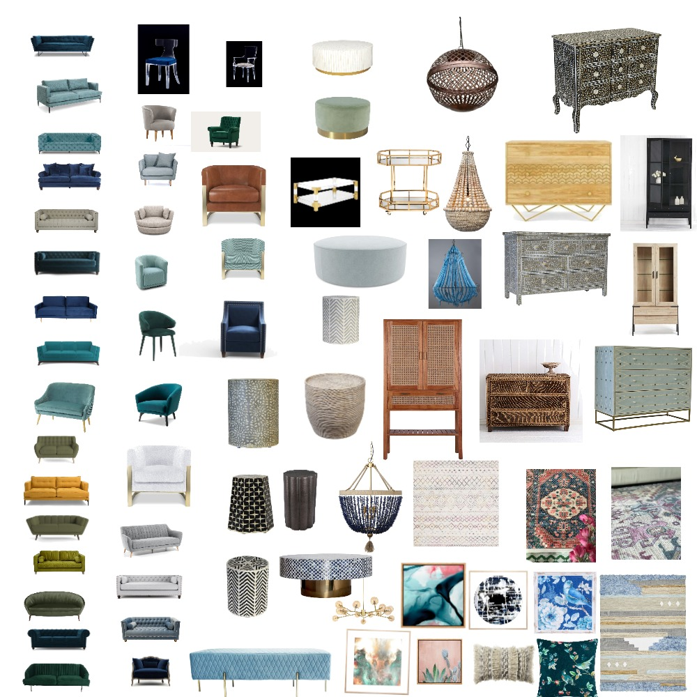 Boho colorful eclectic board Interior Design Mood Board by novahomestyler on Style Sourcebook