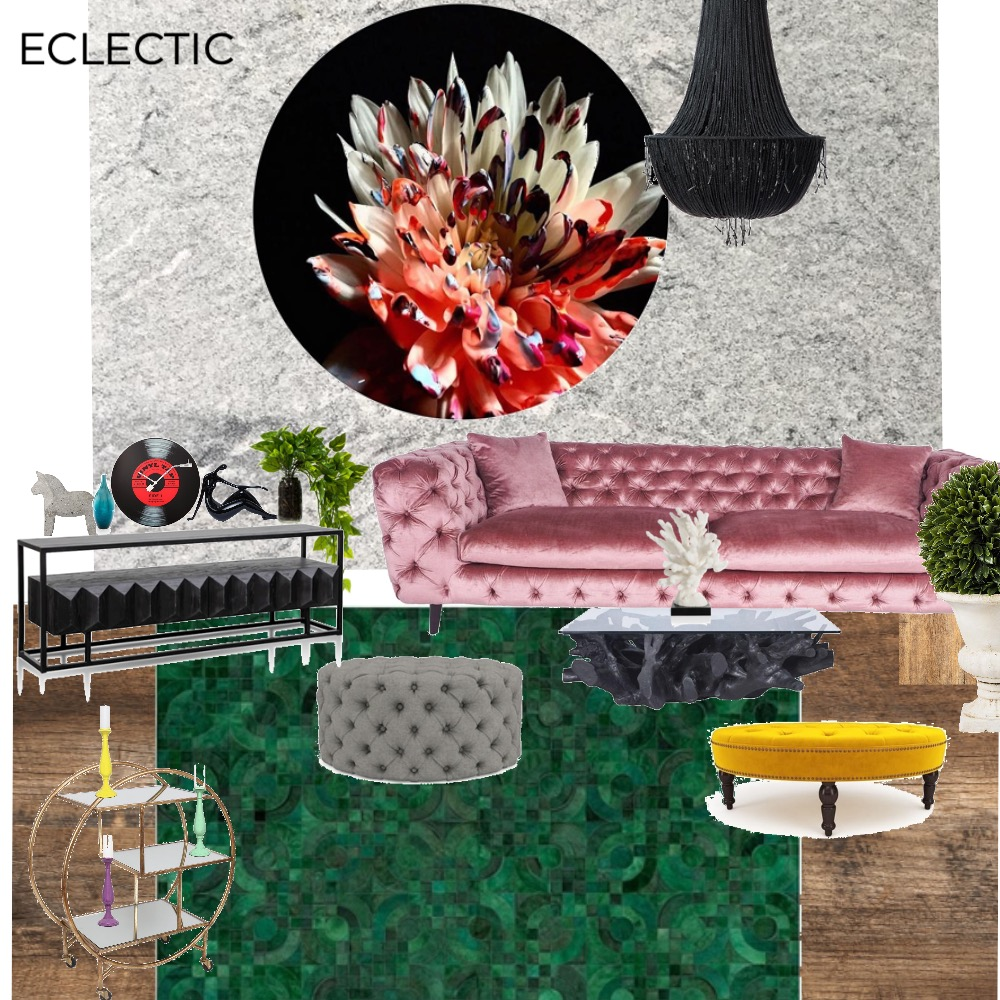ECLECTIC Interior Design Mood Board by Raluca on Style Sourcebook