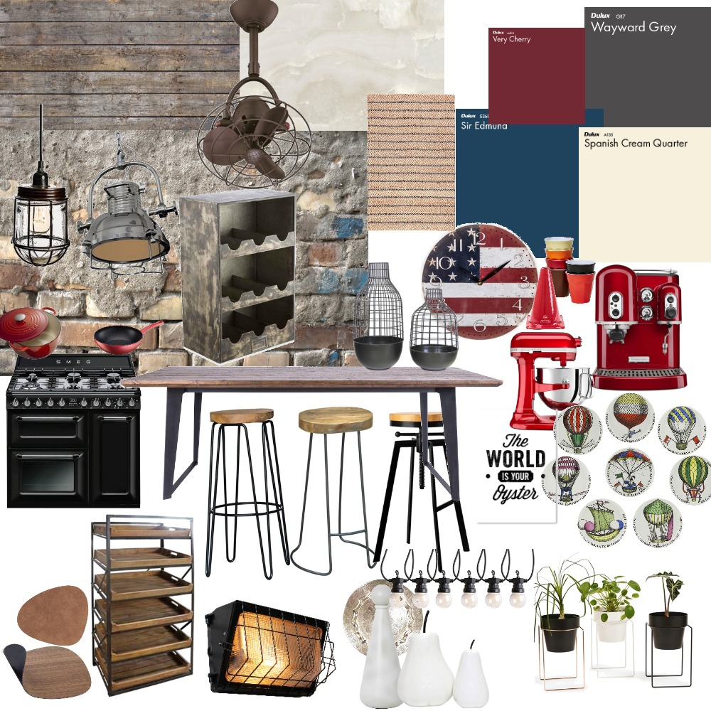 Industrial Moodboard Interior Design Mood Board by miriancastilho on Style Sourcebook