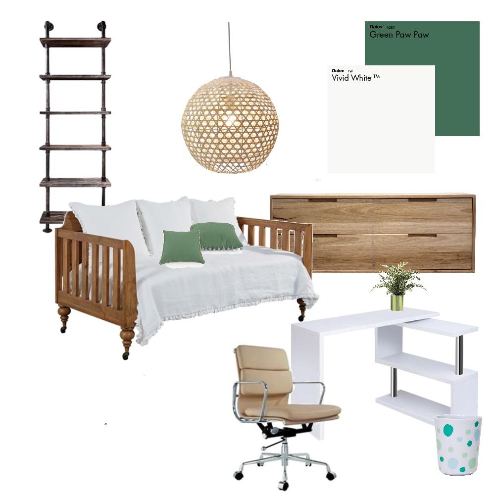 bedroom/ study option 2 Interior Design Mood Board by Scott on Style Sourcebook