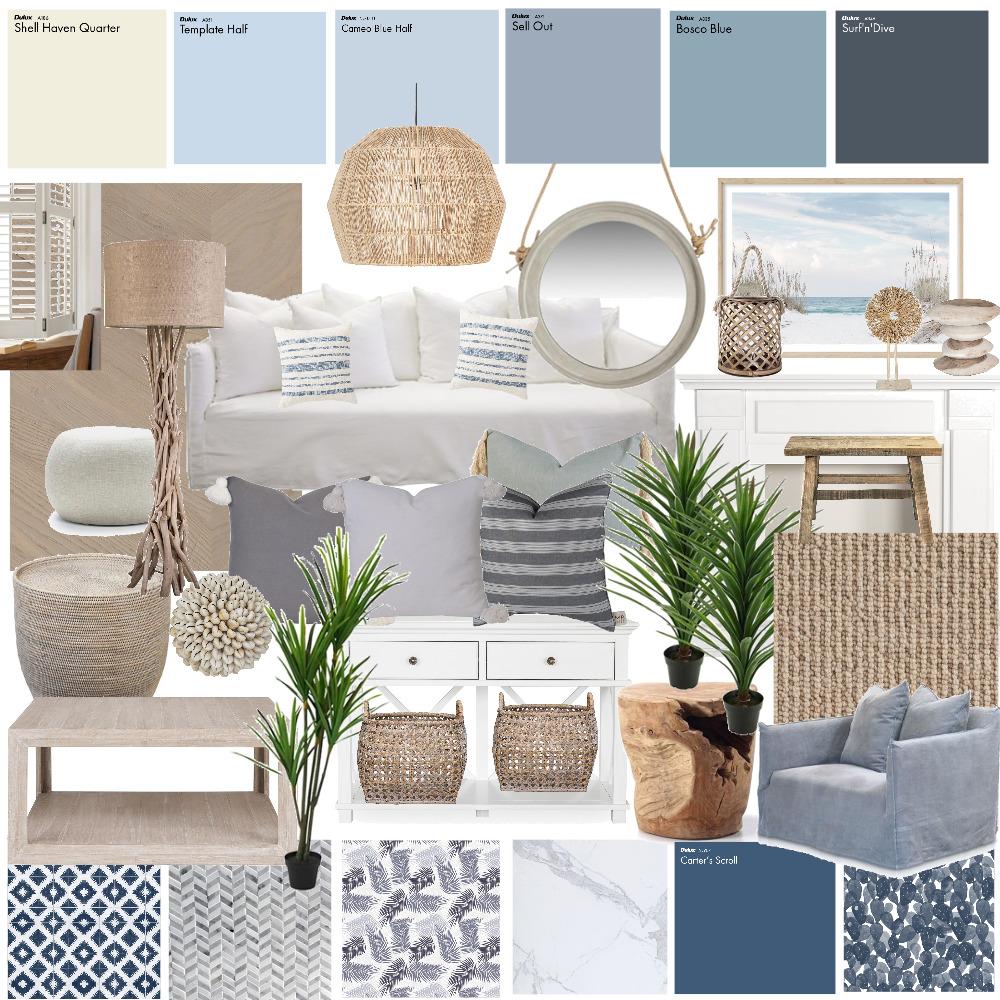 Hamptons/Coastal Interior Design Mood Board by polkadotsandpeonies on Style Sourcebook