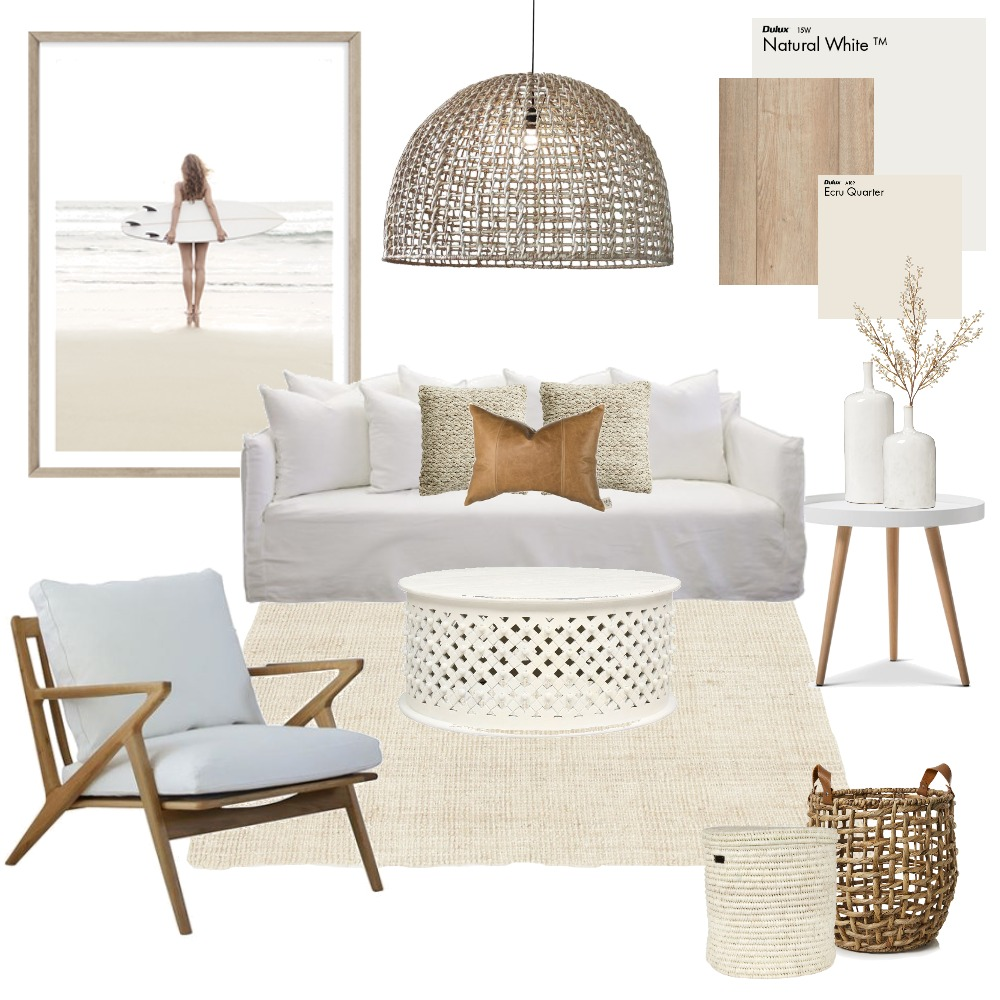 Neutral Living Interior Design Mood Board by Vienna Rose Styling on Style Sourcebook