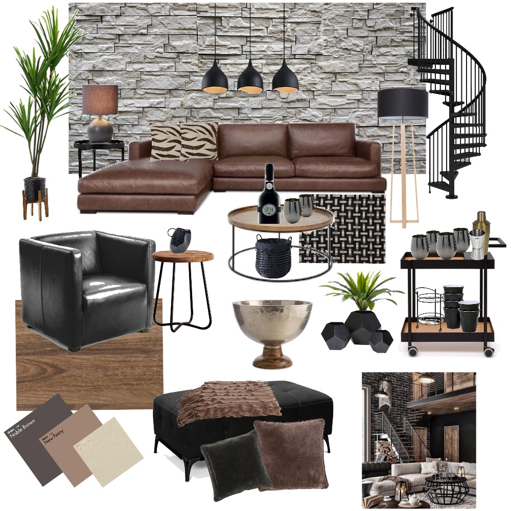 CITY INDUSTRIAL Interior Design Mood Board by YANNII on Style Sourcebook