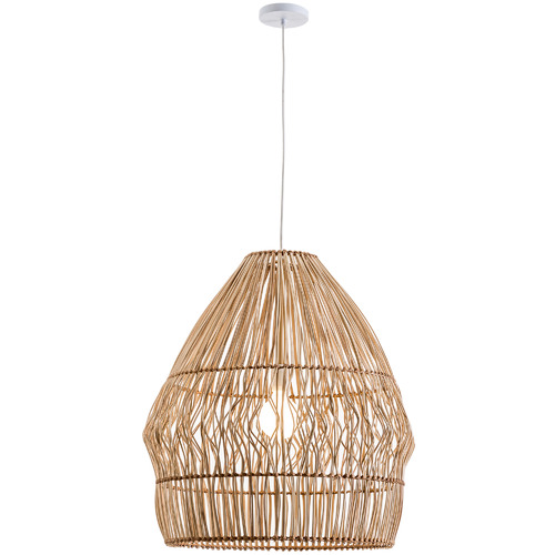 Archer Rattan Pendant Light Colour: Natural, Size: 66.5 x 58 x 62cm by Temple & Webster, a Pendant Lighting for sale on Style Sourcebook