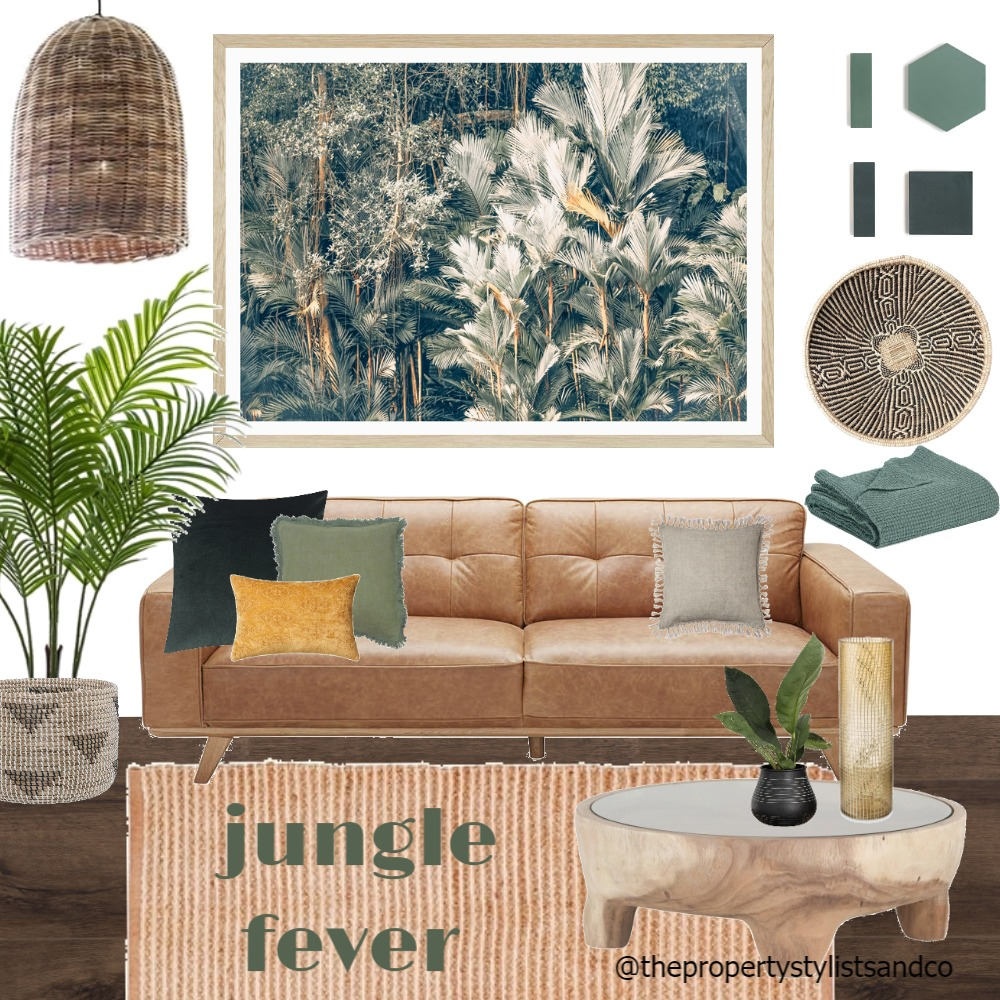 Lounge Jungle Fever Interior Design Mood Board by The Property Stylists and Co on Style Sourcebook