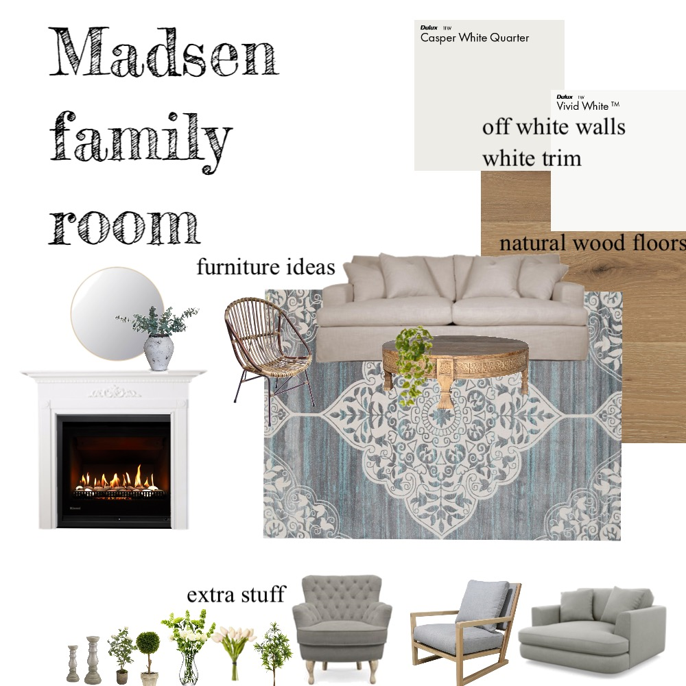 Madsen Family room Interior Design Mood Board by KerriBrown on Style Sourcebook