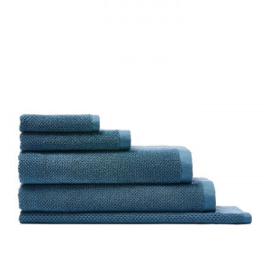 Home Republic Savannah Textured Towel Range Ocean Blue  - Oceanblue By Adairs by Home Republic, a Towels & Washcloths for sale on Style Sourcebook