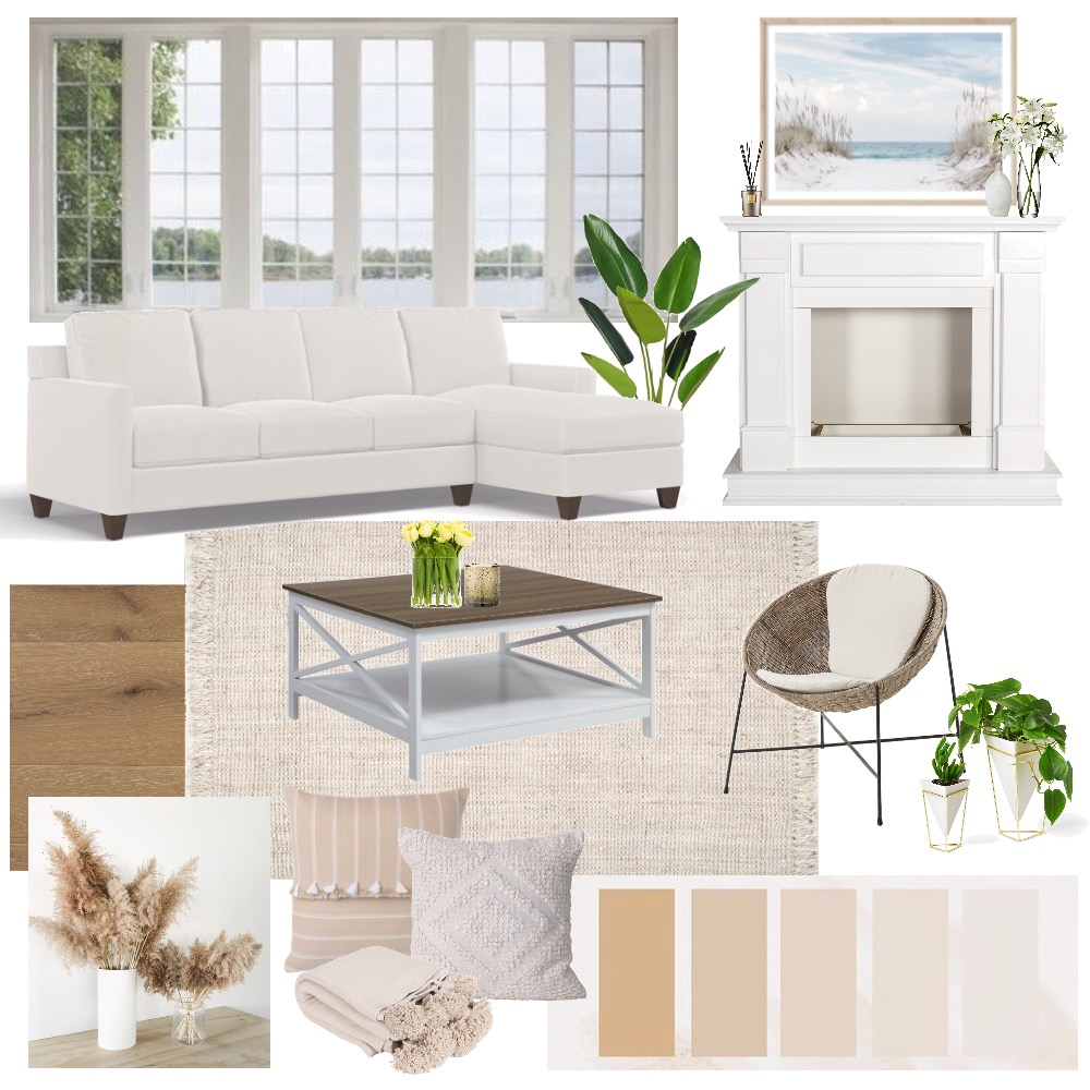 California Coastal Interior Design Mood Board by itsslex on Style Sourcebook