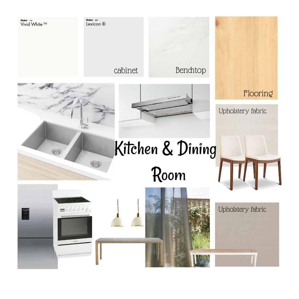 Kitchen & Dining Room Interior Design Mood Board by sysin on Style Sourcebook