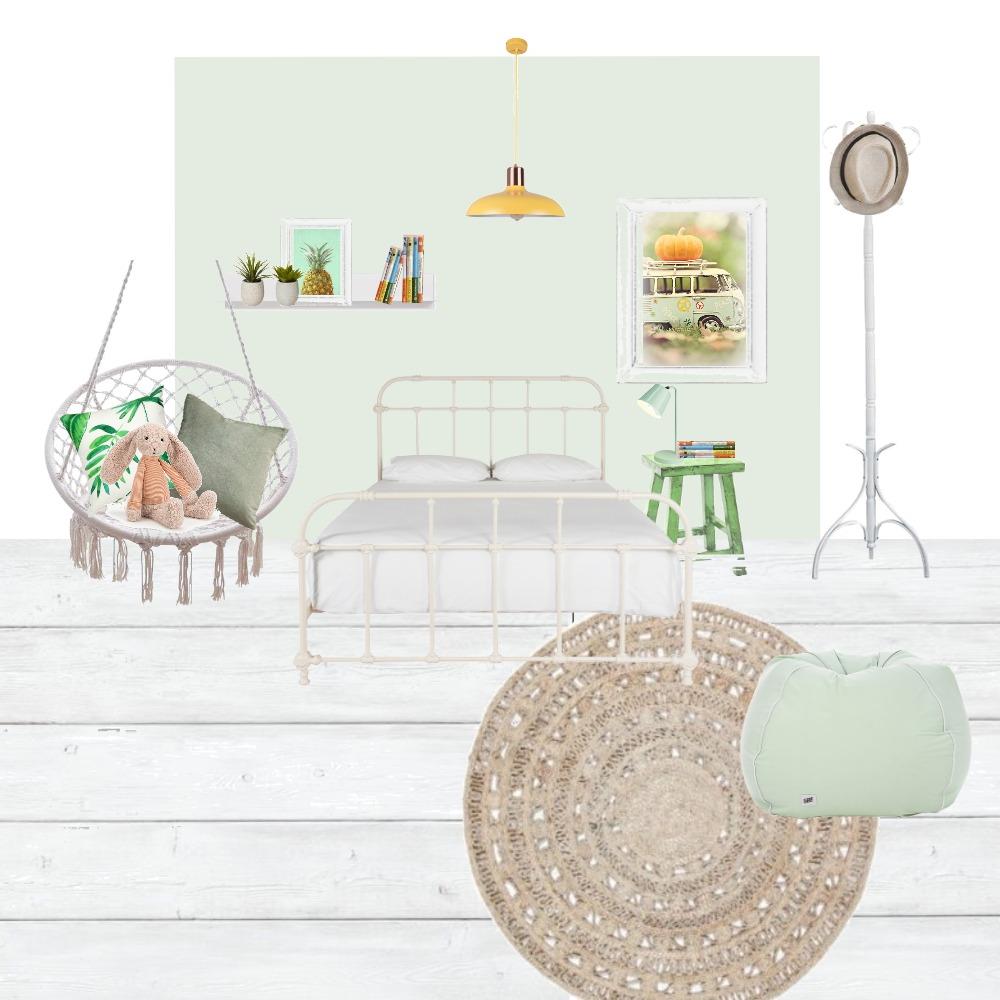 חדר נערה ירוק צהוב Interior Design Mood Board by livnatdoron on Style Sourcebook