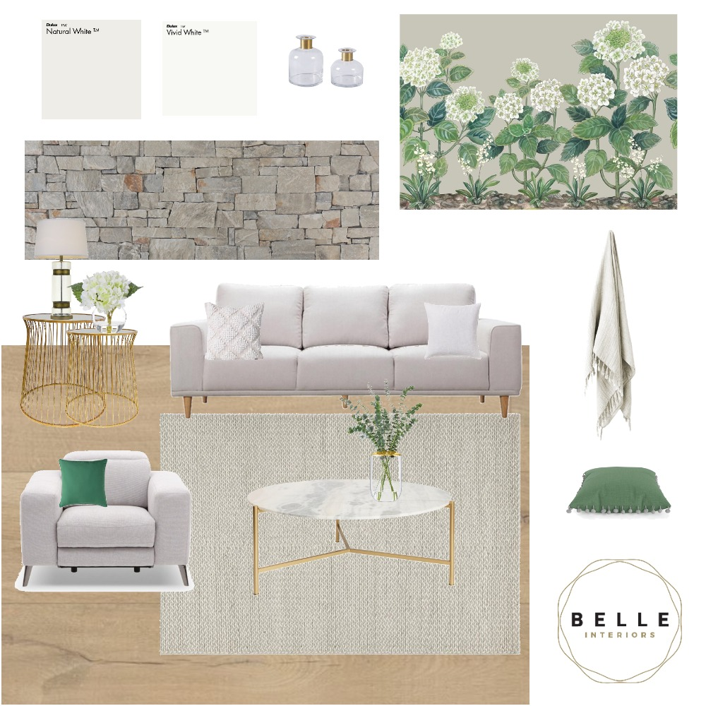 Classic Living Interior Design Mood Board by Belle Interiors on Style Sourcebook