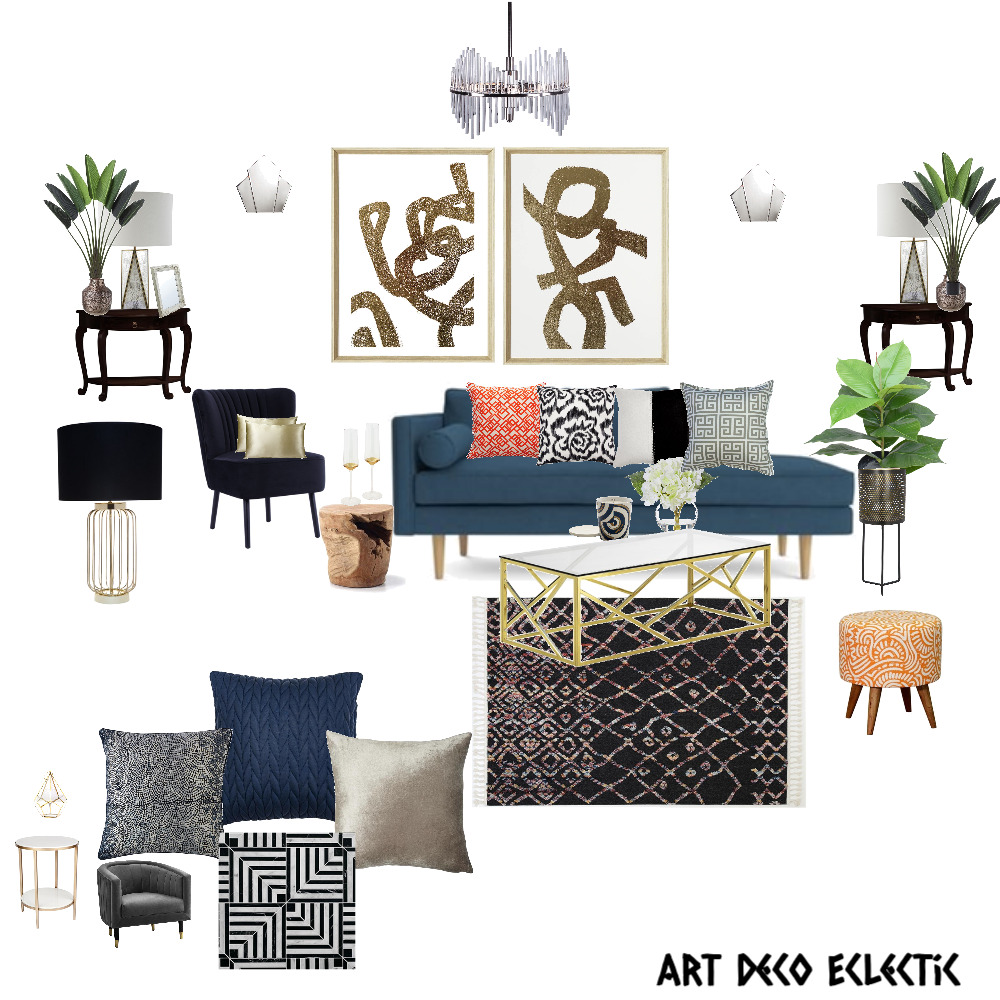 Art Deco Mod Eclectic Interior Design Mood Board by ArtisticVybze7 on Style Sourcebook