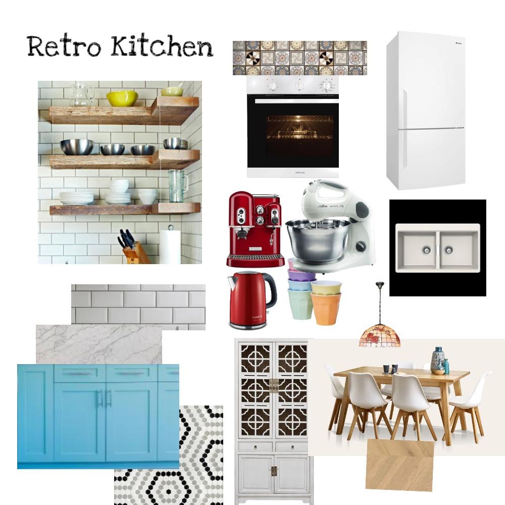 Retro Kitchen Interior Design Mood Board by Susana on Style Sourcebook