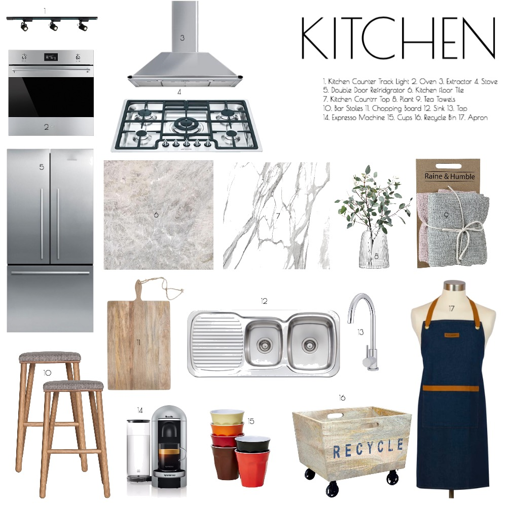 Kitchen Interior Design Mood Board by Celia Gong on Style Sourcebook