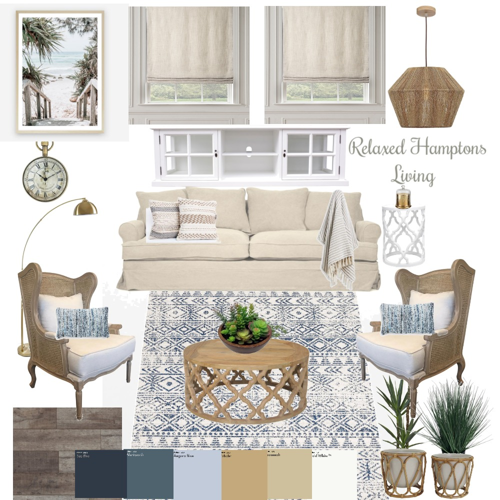 Relaxed Hampton Living Interior Design Mood Board by Complete Harmony Interiors on Style Sourcebook