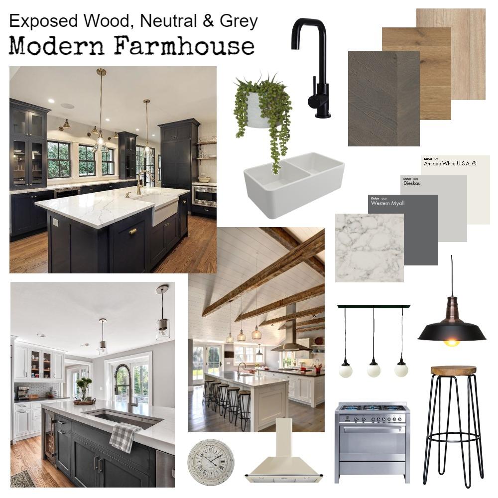Module 3 - Modern Farmhouse Kitchen Interior Design Mood Board by rachweaver21 on Style Sourcebook