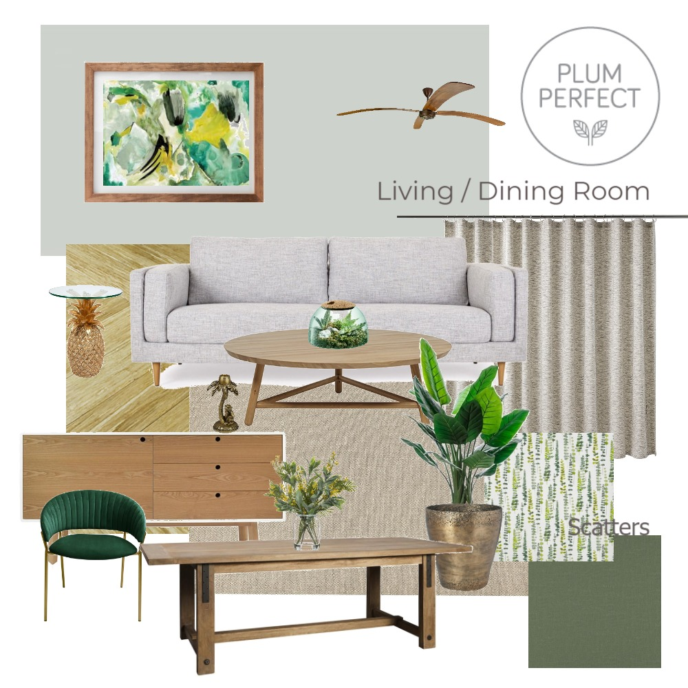 Assignment 9 - Living / Dining  Room Interior Design Mood Board by plumperfectinteriors on Style Sourcebook