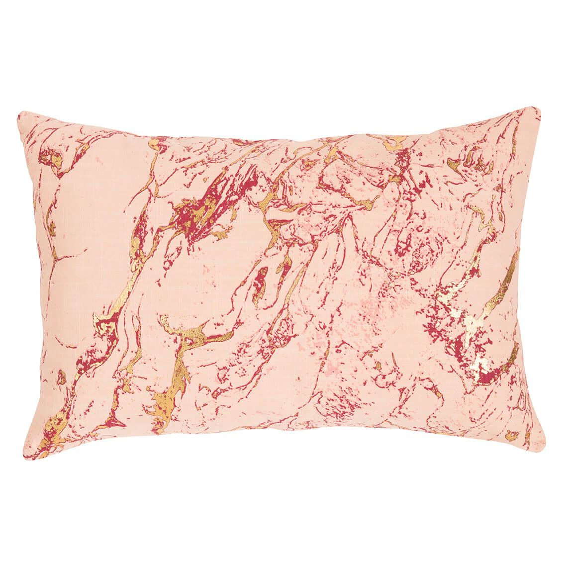 Leselle Cushion Size W 55cm x D 55cm x H 12cm in Pink/Metallic Freedom