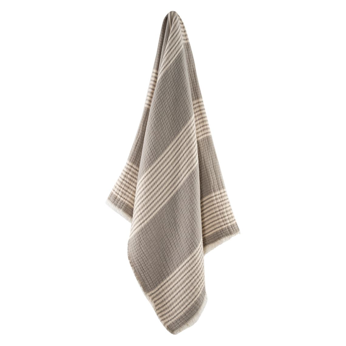 Adley Throw Size W 150cm x D 1cm x H 180cm in Grey/White Freedom