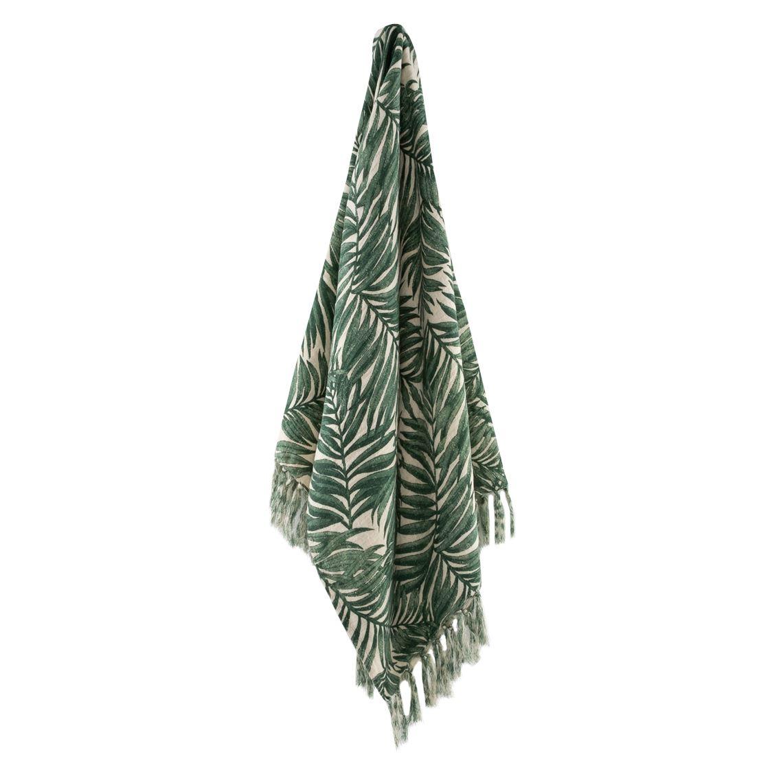 Sendia Throw Size W 130cm x D 1cm x H 150cm in Green Freedom