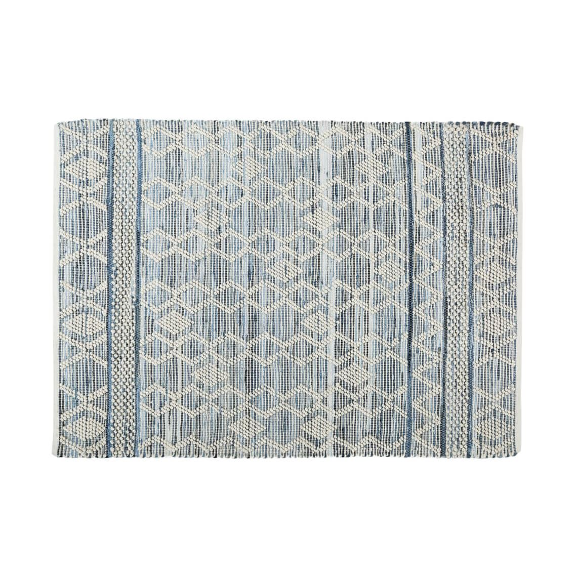 Athire Floor Rug Size W 160cm x D 230cm x H 2cm in Blue Freedom