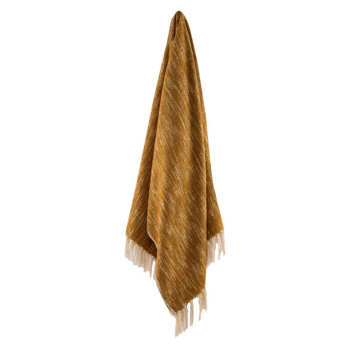 Lascari Throw Size W 130cm x D 1cm x H 150cm in Mustard Freedom