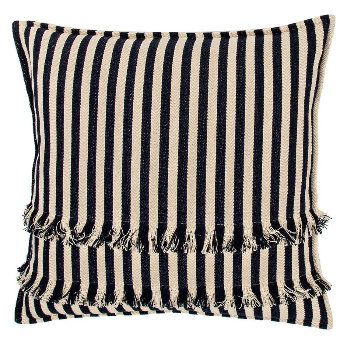 Dashiell Cushion, Navy Size W 50cm x D 50cm x H 8cm in Navy Blue Freedom