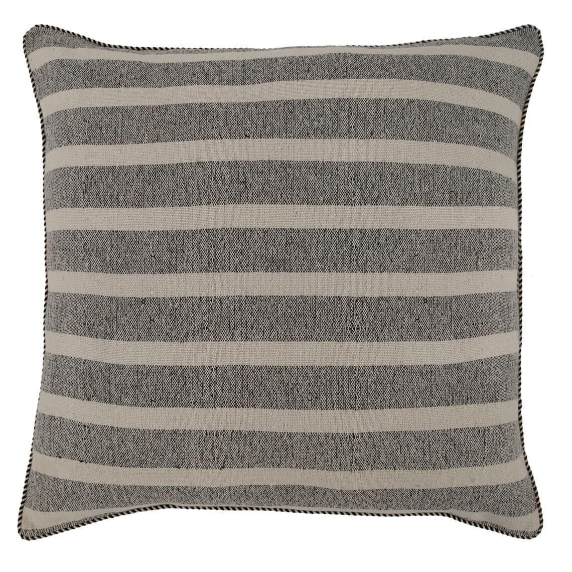 August Cushion Size W 80cm x D 80cm x H 15cm in Grey/White Freedom