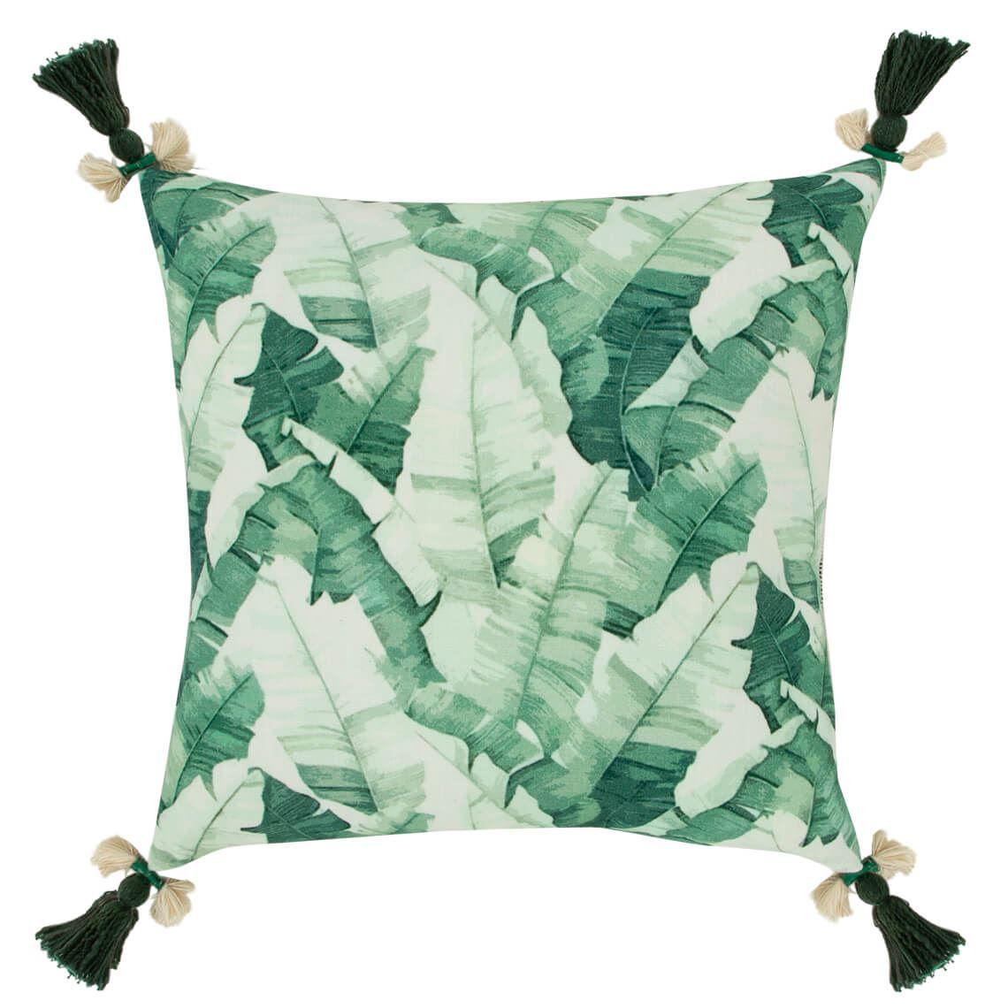 Purnda Cushion Size W 50cm x D 50cm x H 10cm in Green Freedom