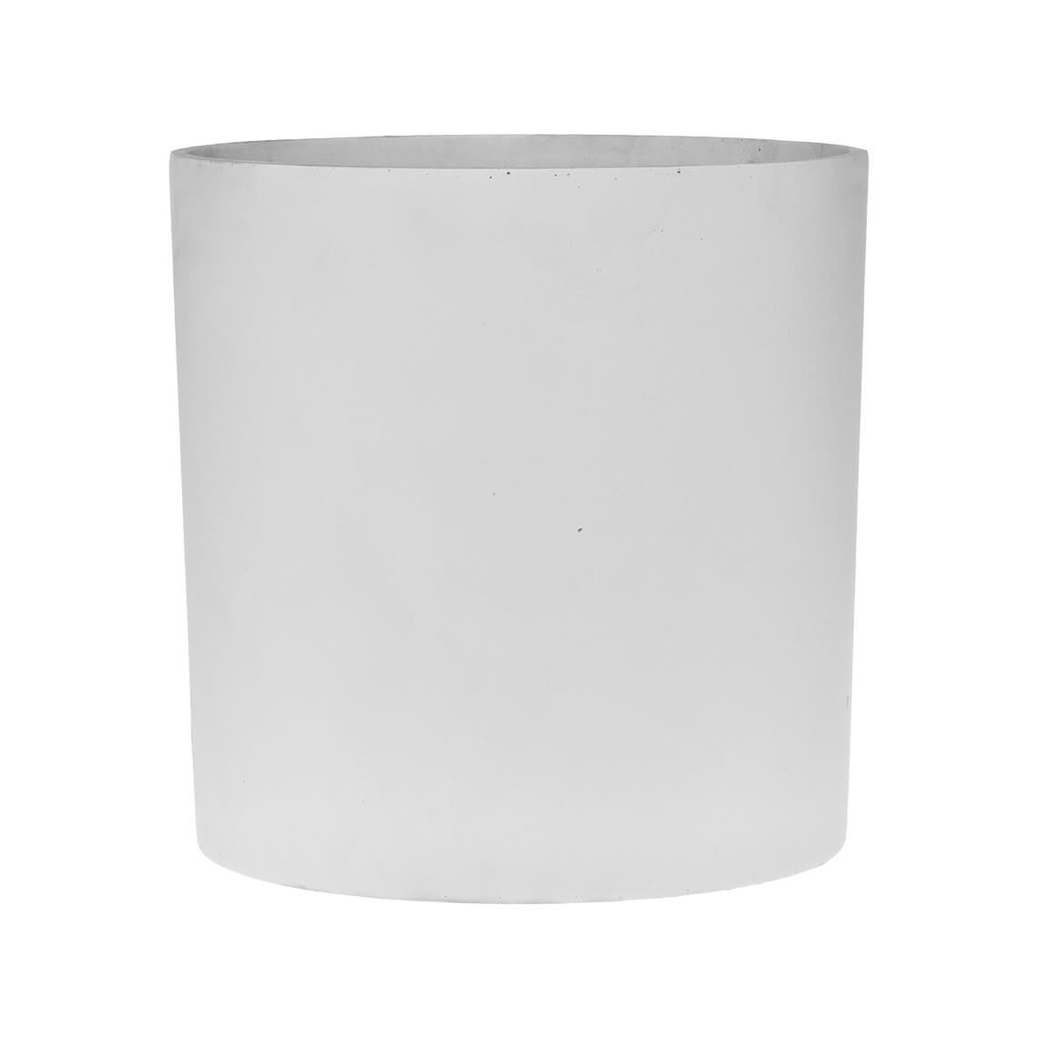 Akiyo Medium Planter Size W 31cm x D 31cm x H 31cm in White 50% Poly Resin/50% Stone Powder Freedom