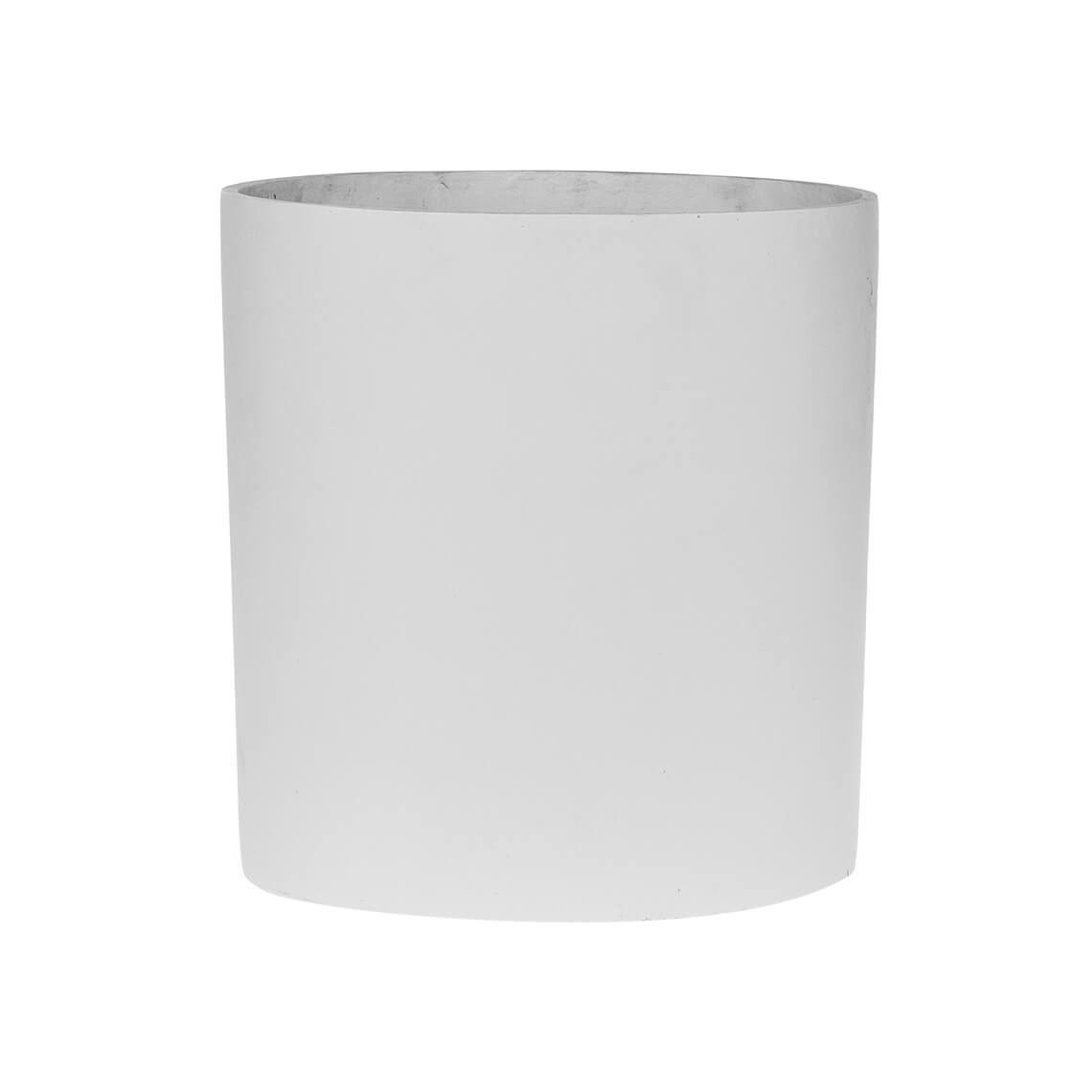Akiyo Small Planter Size W 26cm x D 26cm x H 26cm in White 50% Poly Resin/50% Stone Powder Freedom