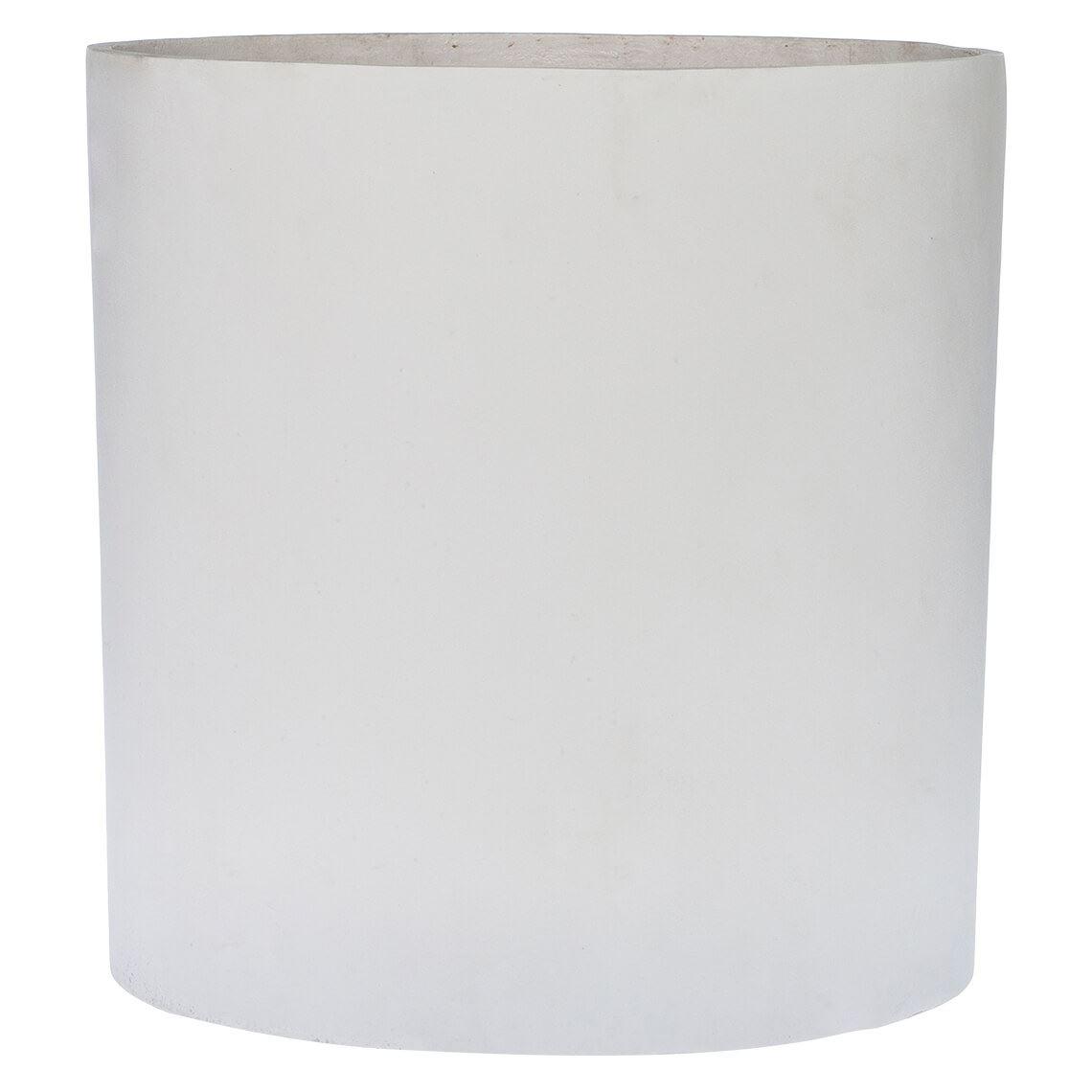 Akiyo Large Planter Size W 38cm x D 38cm x H 38cm in White 50% Poly Resin/50% Stone Powder Freedom