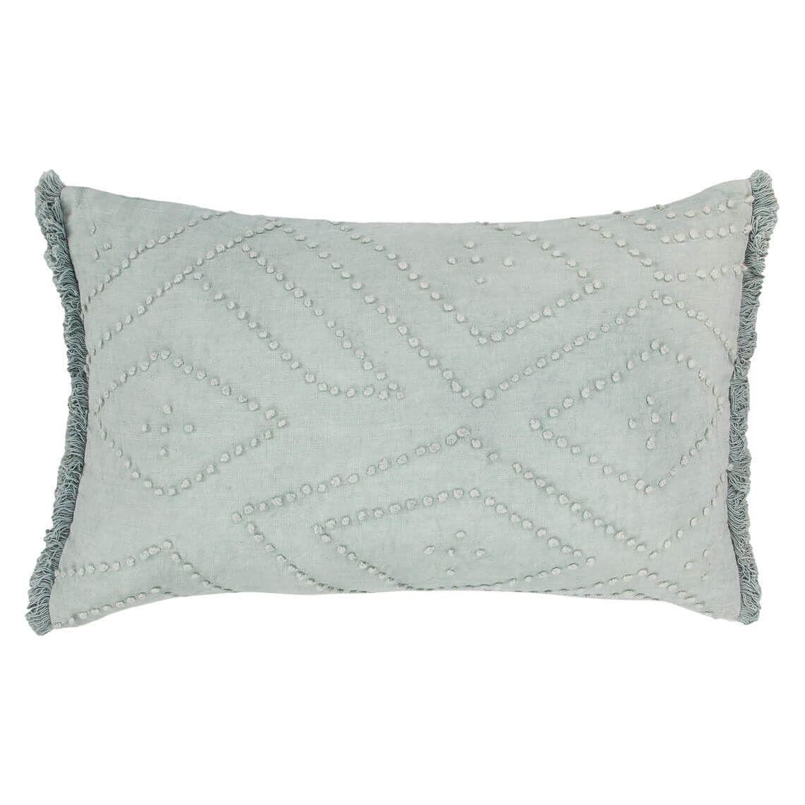 Lenzo Cushion Size W 35cm x D 55cm x H 14cm in Sky 50%cotton/50%linen Freedom